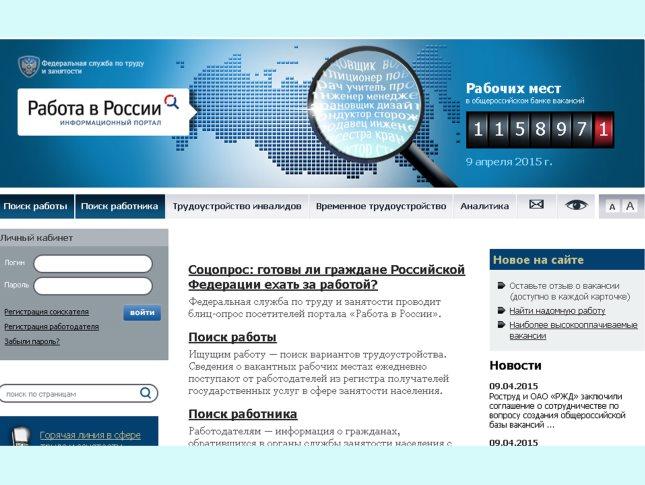 Сайты для поиска работы в россии